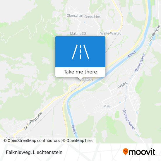 Falknisweg map