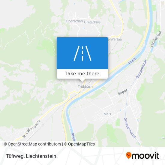 Tüfiweg map