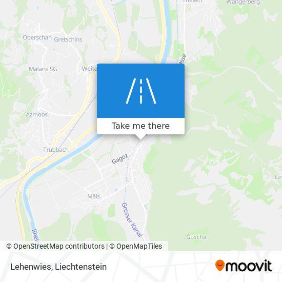 Lehenwies map