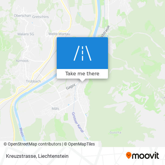 Kreuzstrasse map