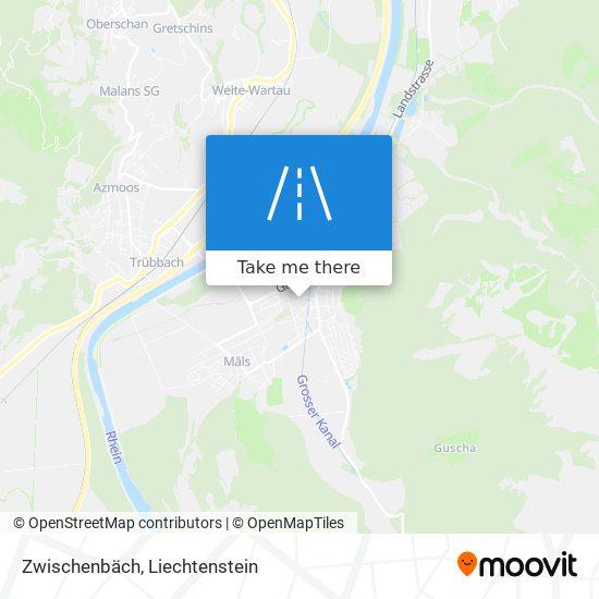 Zwischenbäch map