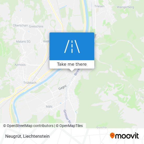 Neugrüt map