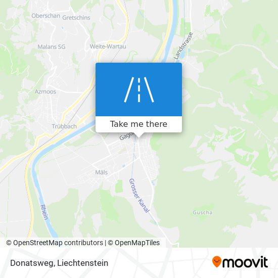 Donatsweg map