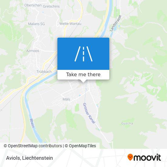 Aviols map
