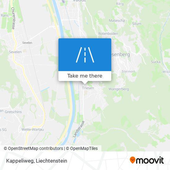 Kappeliweg map