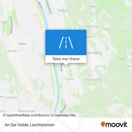 An Der Halde map
