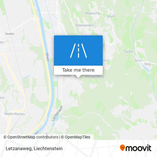 Letzanaweg map