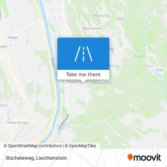 Bücheleweg map