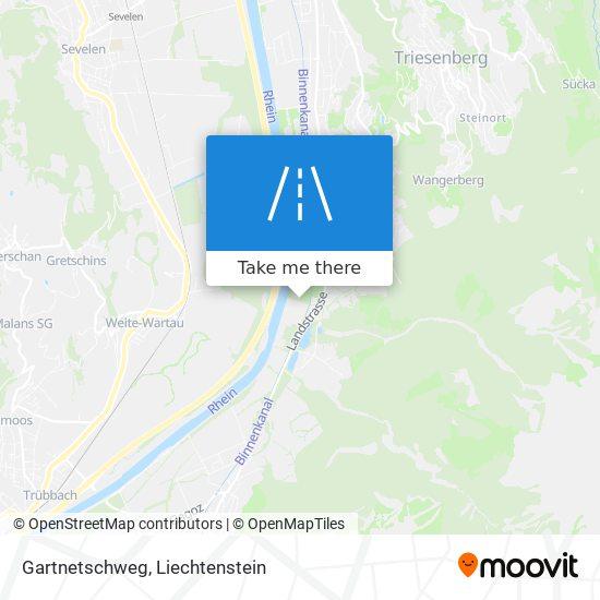 Gartnetschweg map