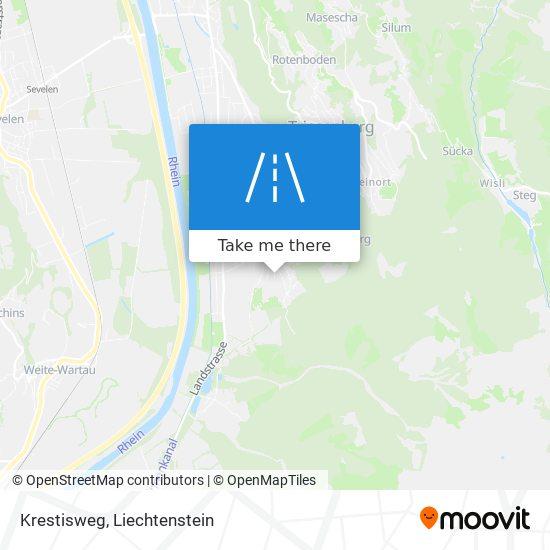 Krestisweg map