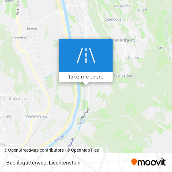 Bächlegatterweg map