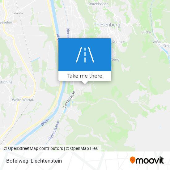 Bofelweg map
