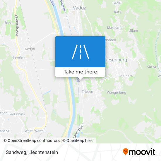 Sandweg map