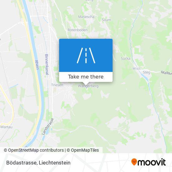 Bödastrasse map