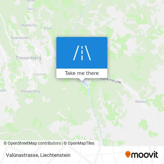 Valünastrasse map
