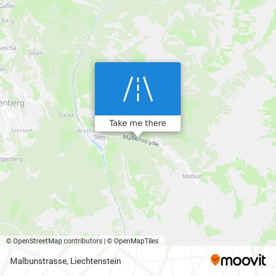 Malbunstrasse map
