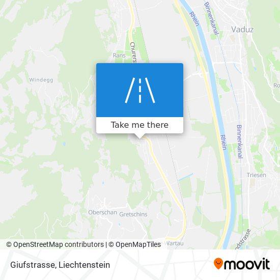 Giufstrasse map