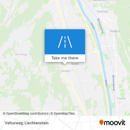Velturweg map