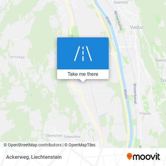 Ackerweg map