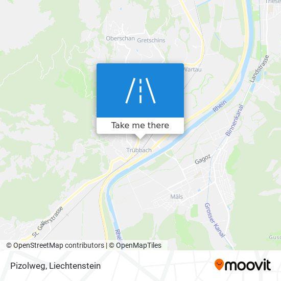 Pizolweg map