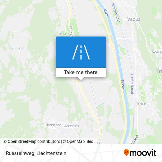 Ruesteinweg map
