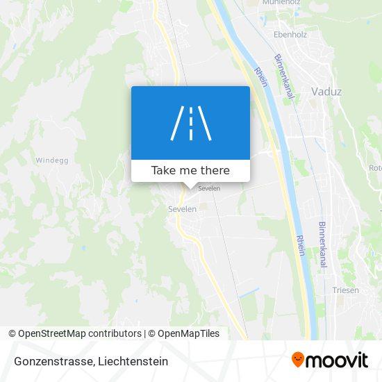 Gonzenstrasse map