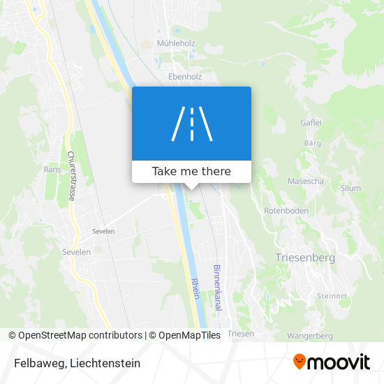 Felbaweg map