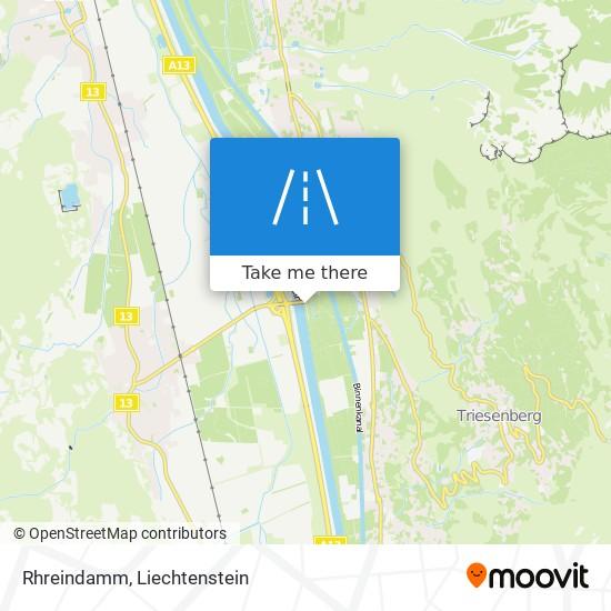 Rhreindamm map
