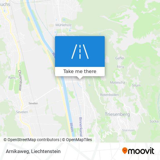 Arnikaweg map