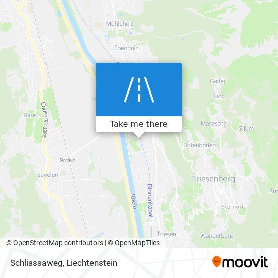 Schliassaweg map
