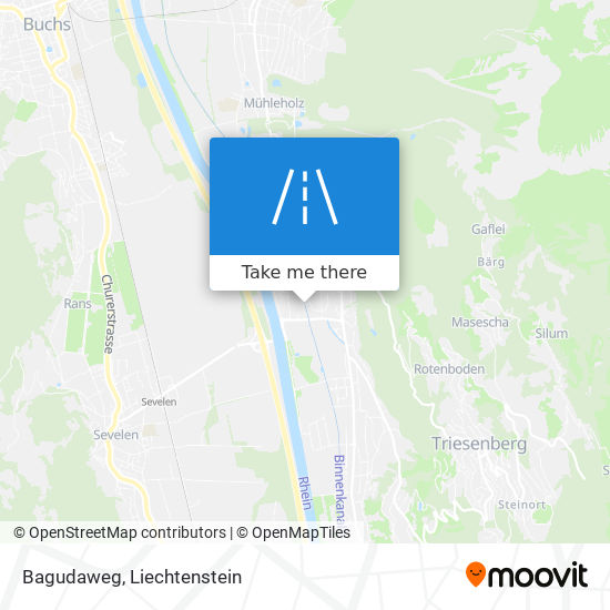 Bagudaweg map