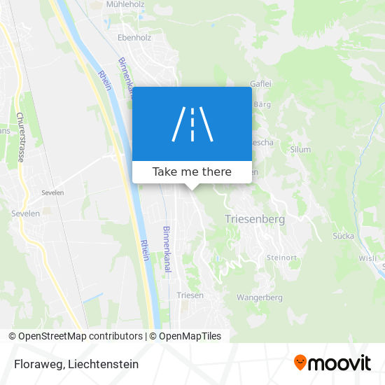 Floraweg map