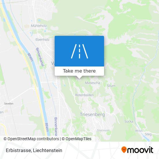 Erbistrasse map