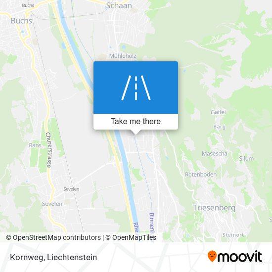 Kornweg map