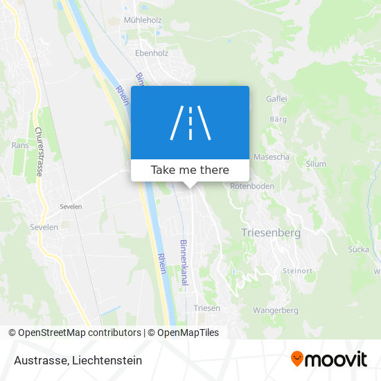 Austrasse map