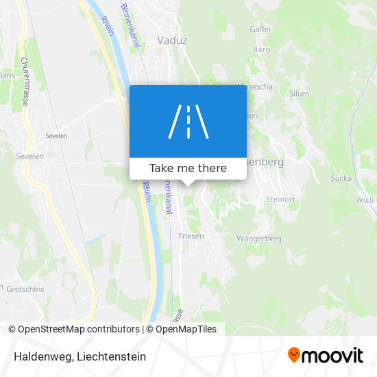 Haldenweg map