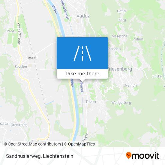 Sandhüslerweg map