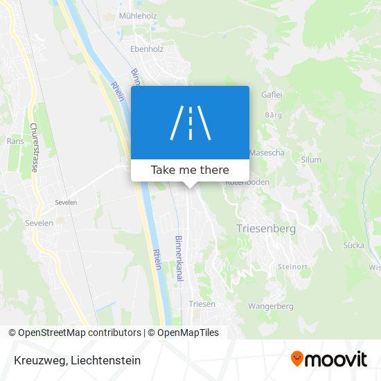 Kreuzweg map