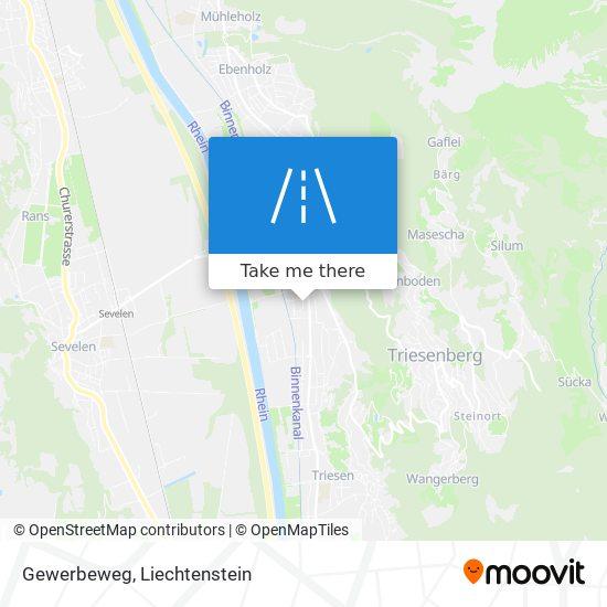 Gewerbeweg map