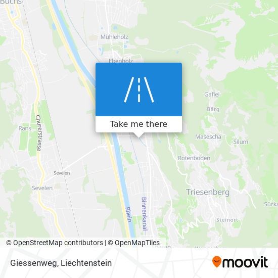Giessenweg map