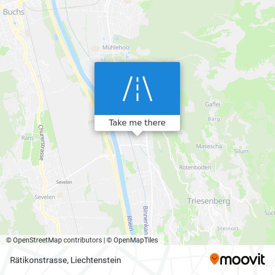 Rätikonstrasse map