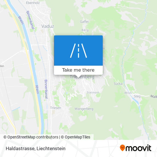 Haldastrasse map