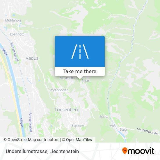 Undersilumstrasse map