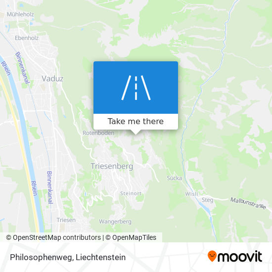 Philosophenweg map