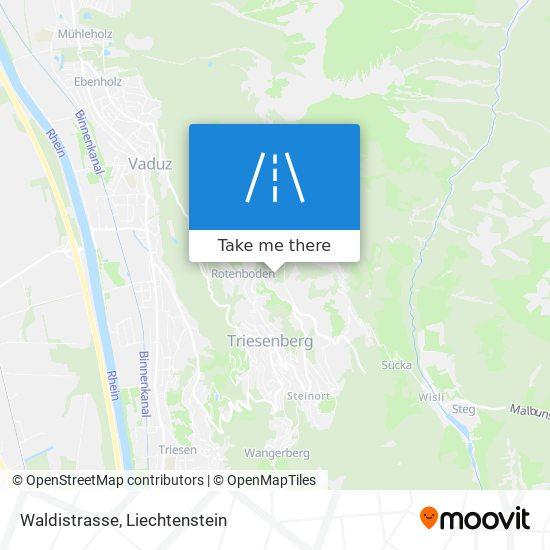 Waldistrasse map