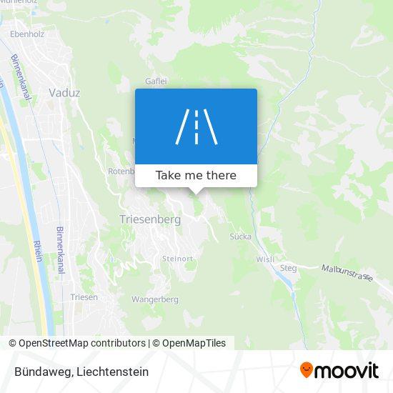 Bündaweg map