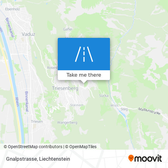 Gnalpstrasse map