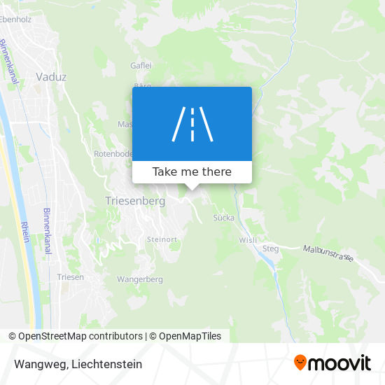 Wangweg map