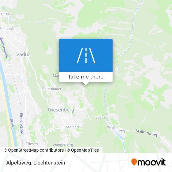 Alpeltiweg map