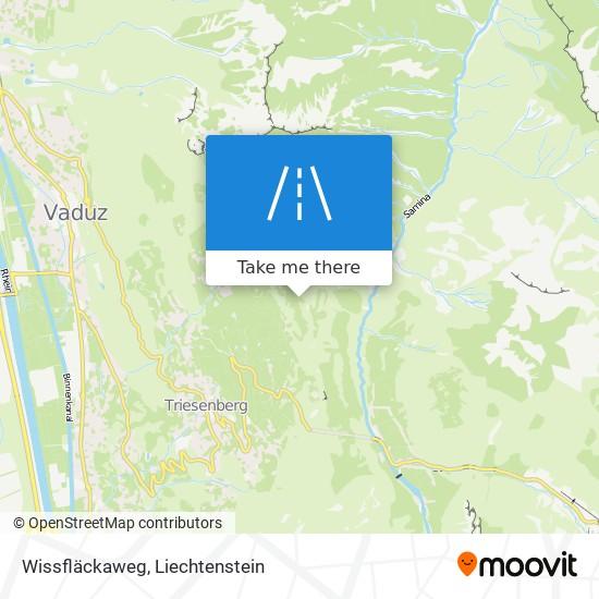 Wissfläckaweg map